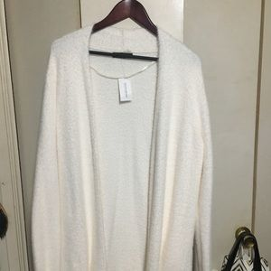 Banana Republic Ivory Colored Fuzzy Cardigan